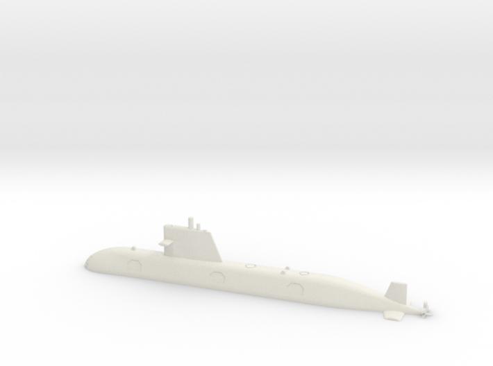 1/700 Scorpene-class submarine (Waterline) 3d printed