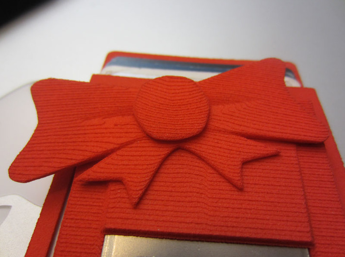 bikini mini wallet with bow decoration 3d printed