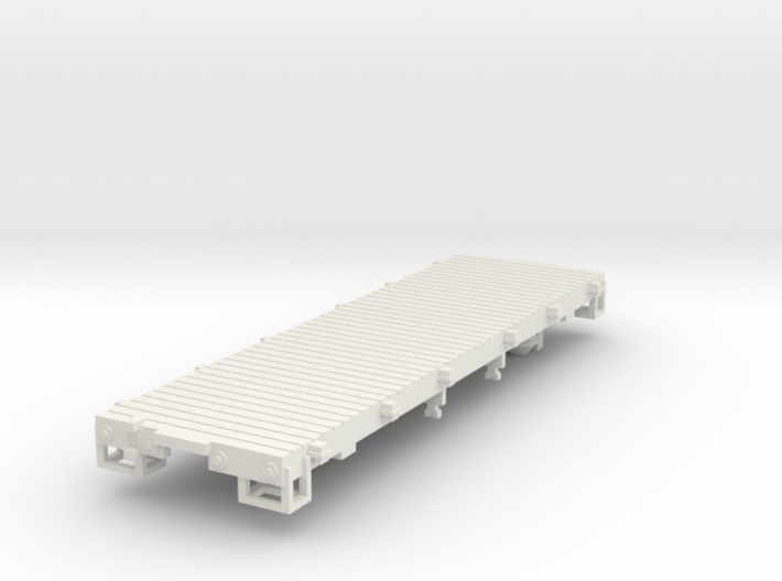HOn3 25ft Flatcar, without stakes 3d printed