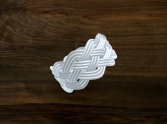 Turk's Head Knot Ring 5 Part X 10 Bight - Size 11 3d printed