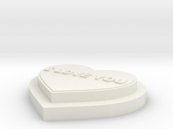 Heart I LOVE YOU 3d printed