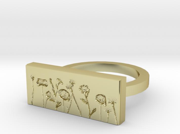 Flower Ring 2 3d printed