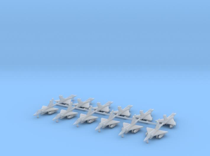 1/700 Mirage 2000EG/BG (Two Seat) (x12) 3d printed