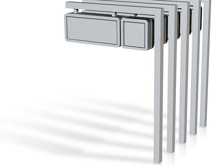 5 NS perronborden met paal (n-scale) 3d printed
