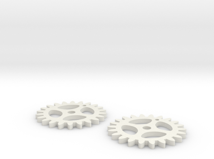 Gear key chain 3d printed
