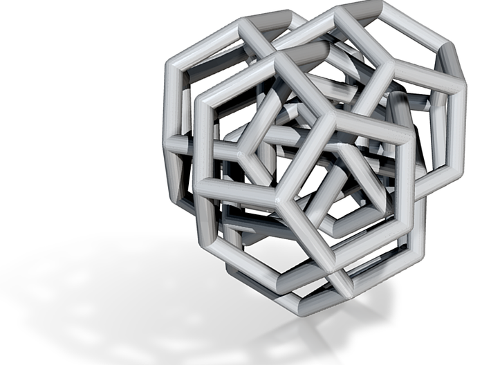 Four dodecahedra interlocked 3d printed