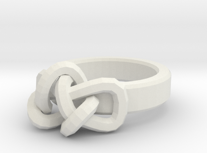 Womens Endless Knot Ring Size 7 3d printed