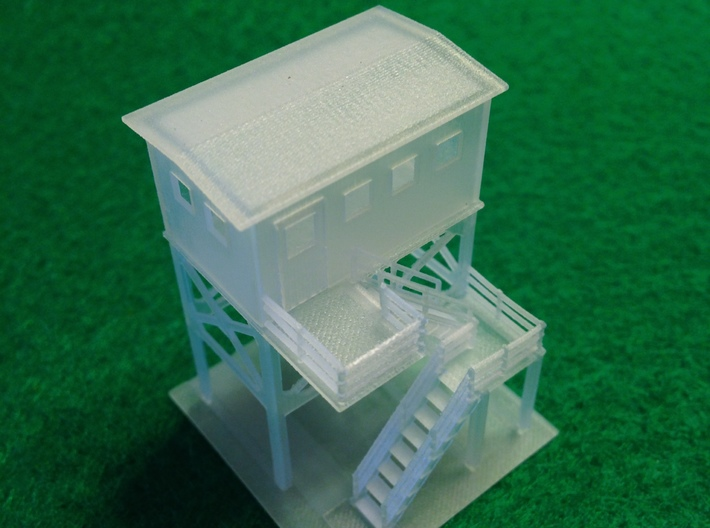 Track Side Tower Z Scale 3d printed Switch Tower 5 Z scale