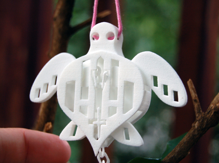 Sea Turtle That Moves / Marionette Sea Creature /  3d printed