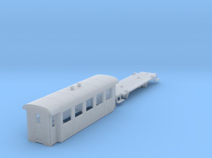 ZB (H0e) - 5-Fenster-Personenwagen B19 (alt) 3d printed
