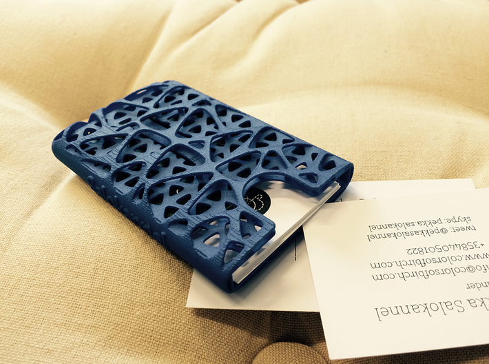 Business card case -Network 3d printed hidden spring