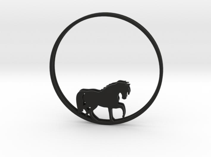 Horse Hoop Earrings 50mm 3d printed