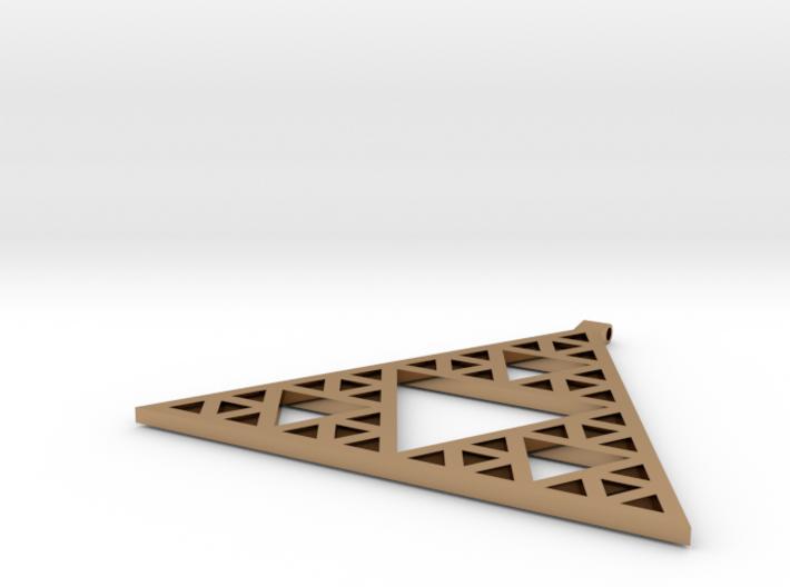 Sierpinski's Triangle Pendant 3d printed