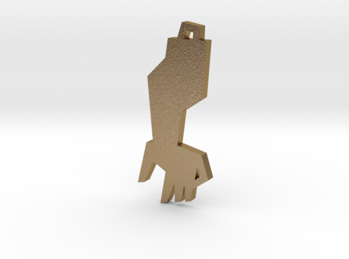 Golden Arm Pendant 3d printed