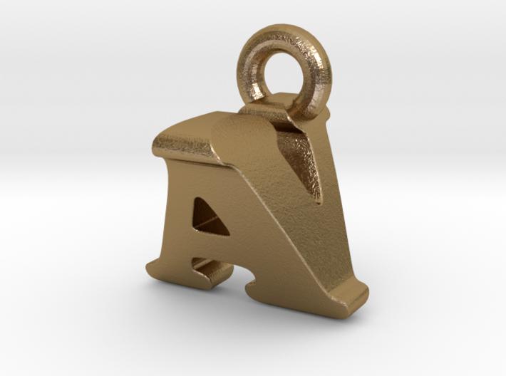 3D Monogram Pendant - AVF1 3d printed