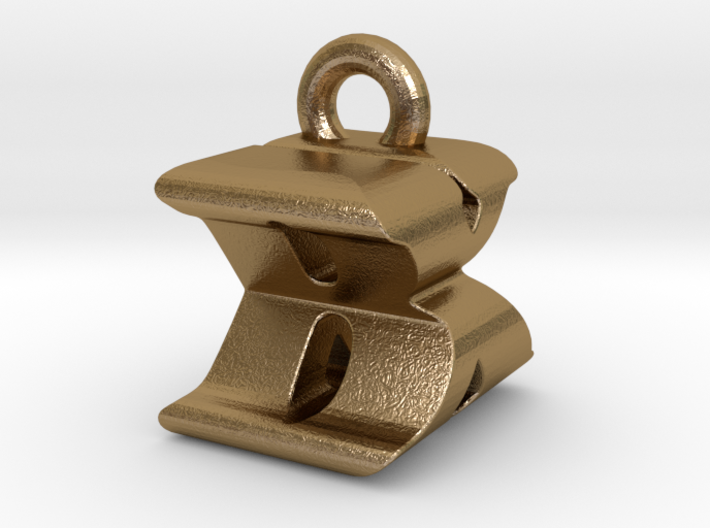 3D Monogram Pendant - BXF1 3d printed