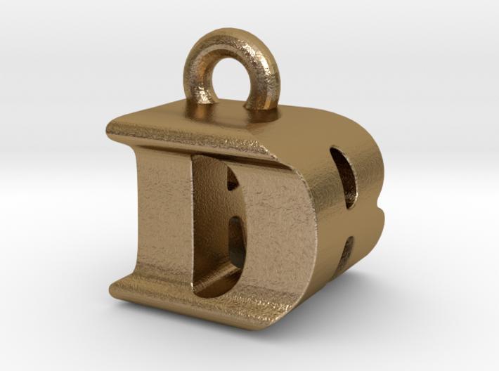 3D Monogram Pendant - DRF1 3d printed