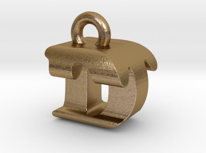 3D Monogram Pendant - DTF1 3d printed