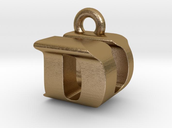3D Monogram Pendant - DUF1 3d printed