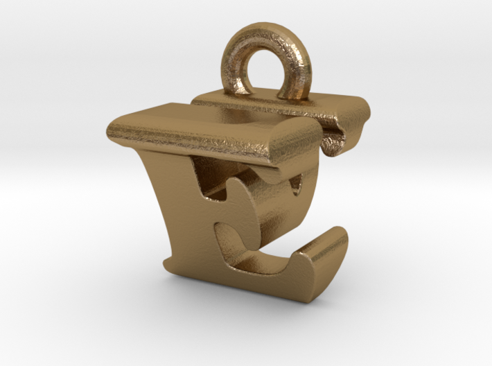 3D Monogram Pendant - EVF1 3d printed