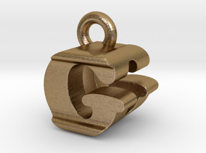 3D Monogram Pendant - GDF1 3d printed