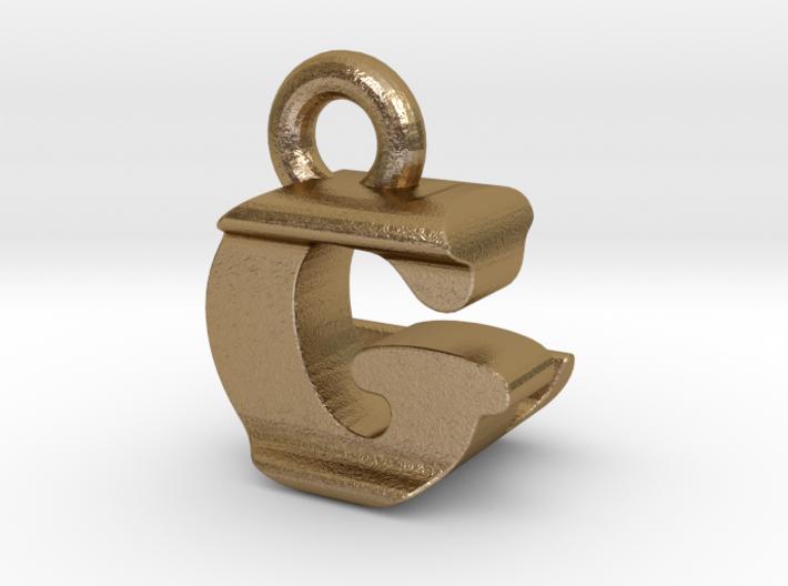 3D Monogram Pendant - GLF1 3d printed