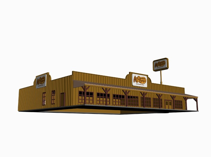 Cracker Barrel Restaurant with Sign Z Scale 3d printed 3D Max Drawing