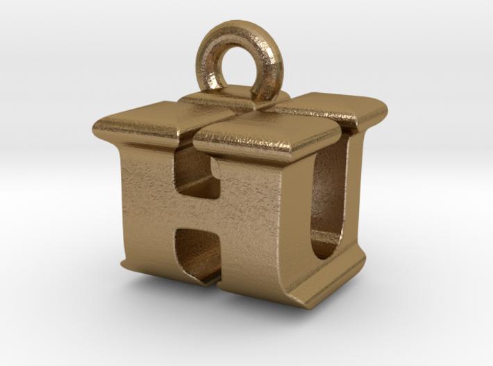 3D Monogram Pendant - HUF1 3d printed