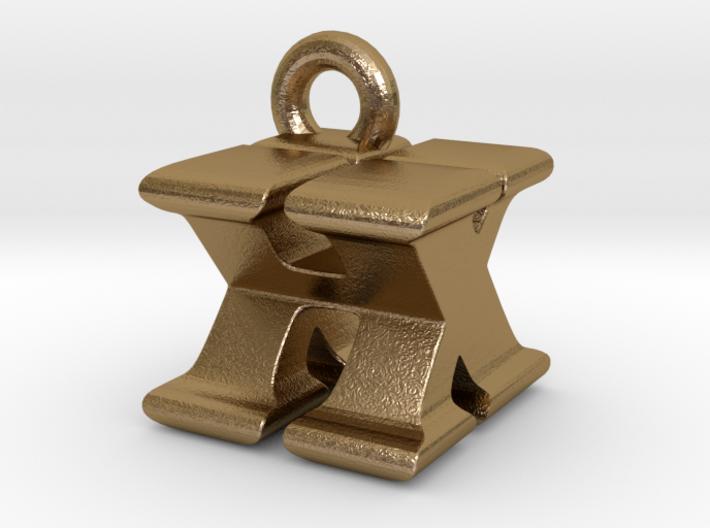 3D Monogram Pendant - HXF1 3d printed