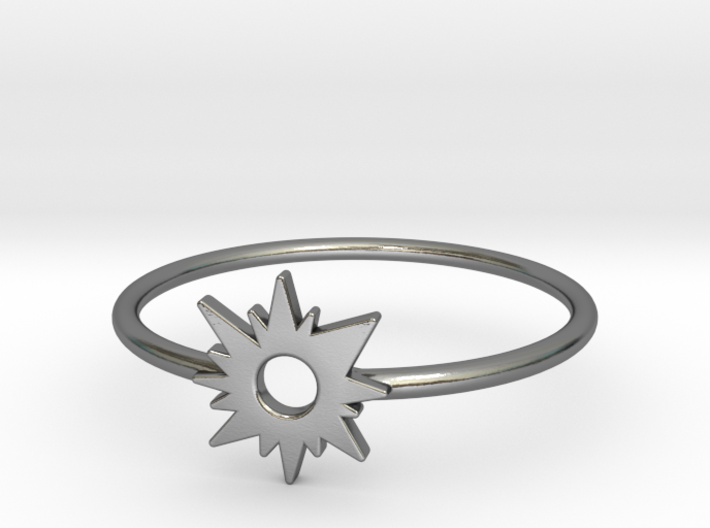 Sun Midi Ring 16mm inner diameter by CURIO 3d printed