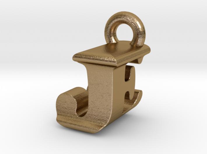 3D Monogram Pendant - JEF1 3d printed