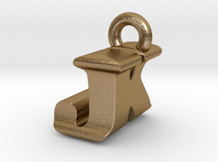 3D Monogram Pendant - JKF1 3d printed