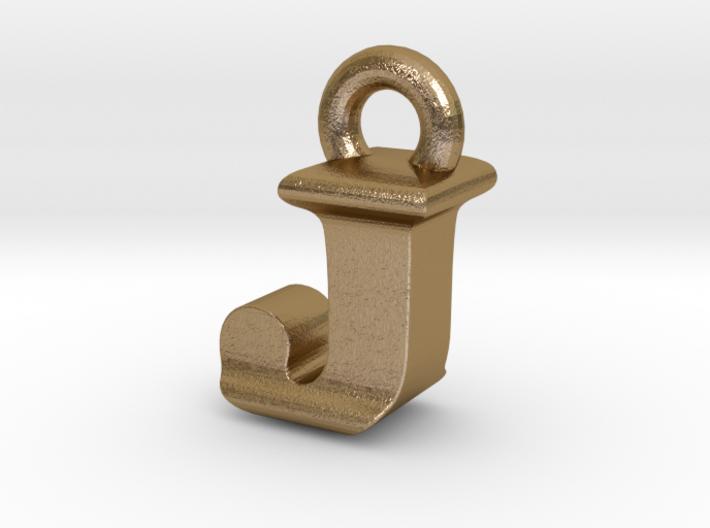 3D Monogram Pendant - JIF1 3d printed