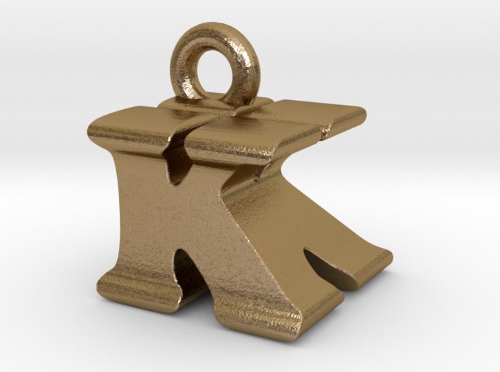 3D Monogram Pendant - KKF1 3d printed