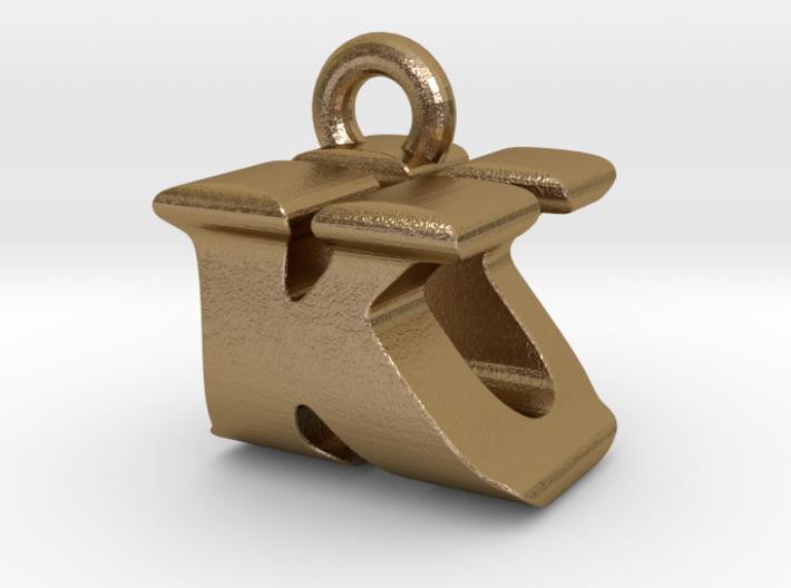 3D Monogram Pendant - KUF1 3d printed