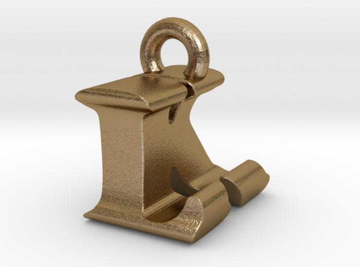 3D Monogram Pendant - LKF1 3d printed