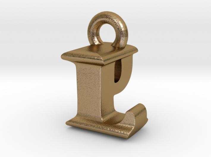 3D Monogram Pendant - LPF1 3d printed