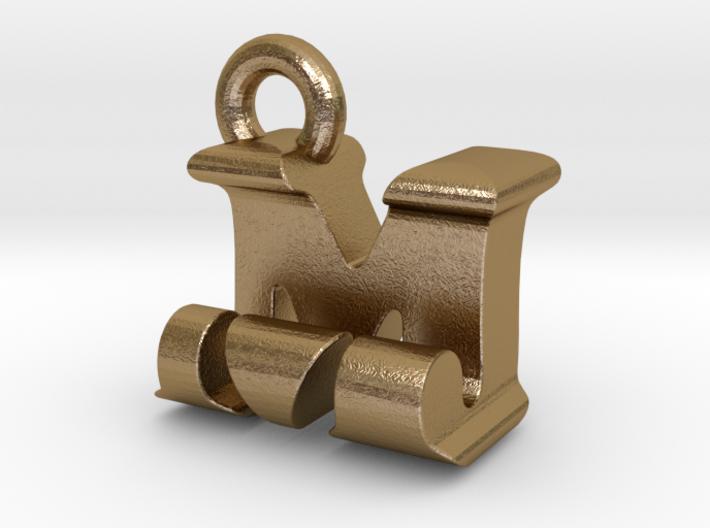 3D Monogram Pendant - MJF1 3d printed