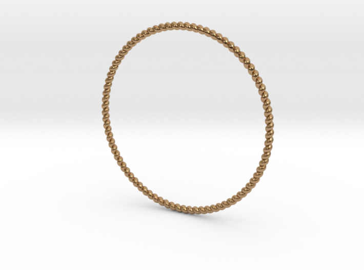 TinyTwist Bangle Bracelet LARGE 3d printed