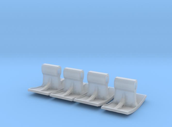 SET 4x Straßenbelag-Stempel 14mm (N 1:160) 3d printed
