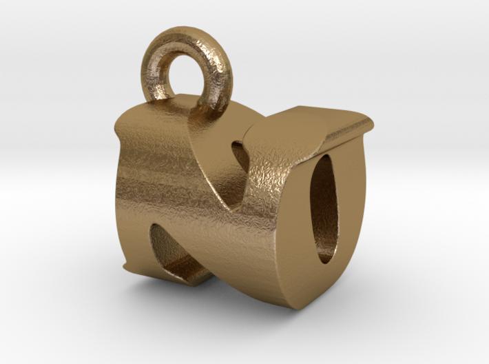 3D Monogram Pendant - NOF1 3d printed