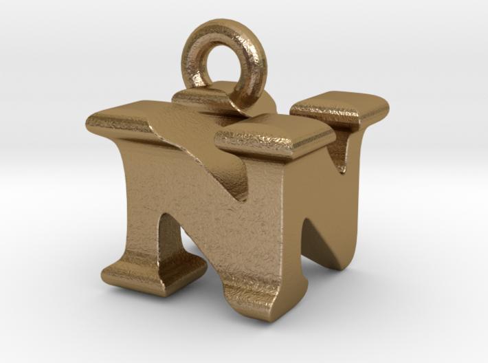 3D Monogram Pendant - NNF1 3d printed