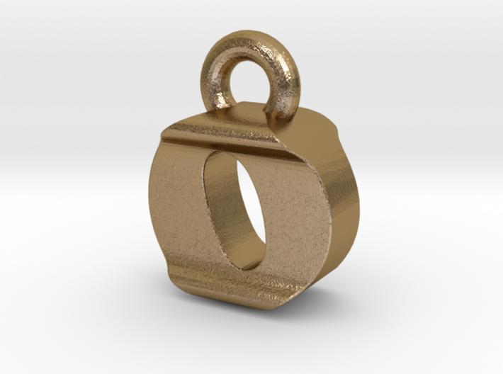 3D Monogram Pendant - OIF1 3d printed