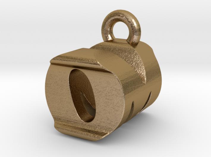 3D Monogram Pendant - OMF1 3d printed