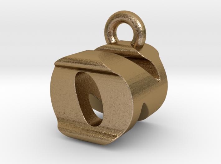 3D Monogram Pendant - ONF1 3d printed