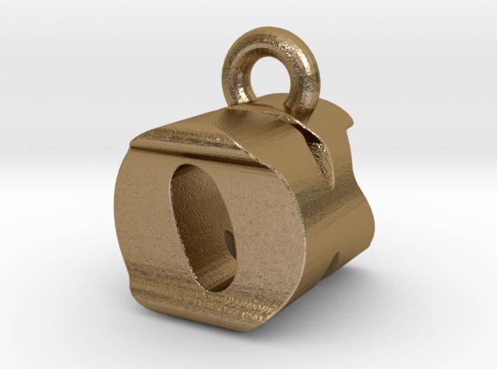 3D Monogram Pendant - OKF1 3d printed
