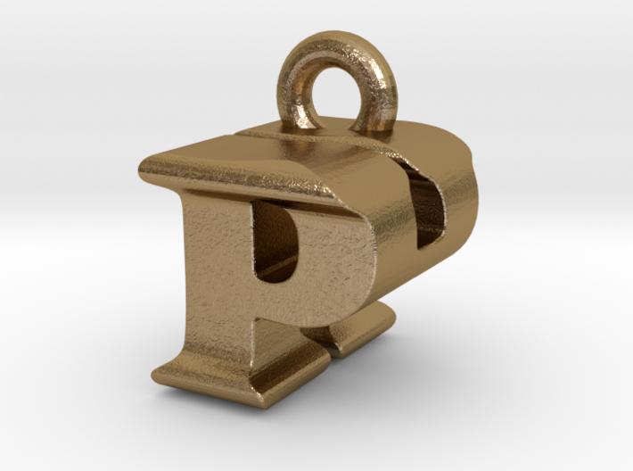 3D Monogram Pendant - PHF1 3d printed