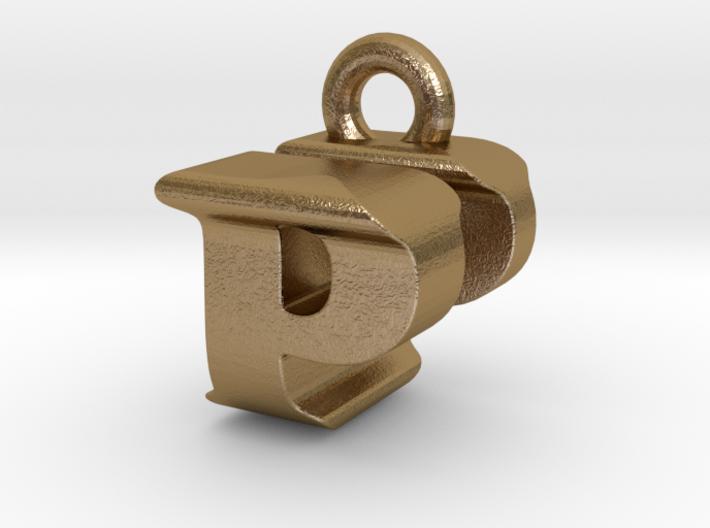 3D Monogram Pendant - PUF1 3d printed