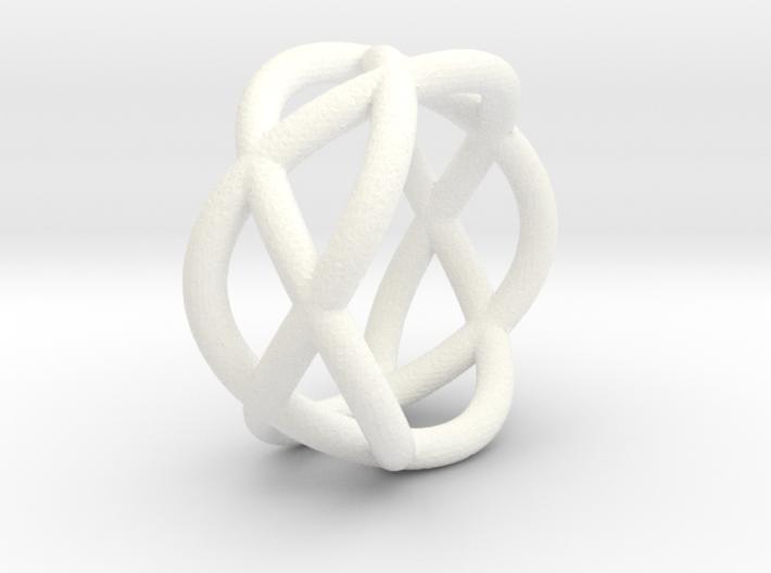 Napkin Ring Pretzel medium 3d printed