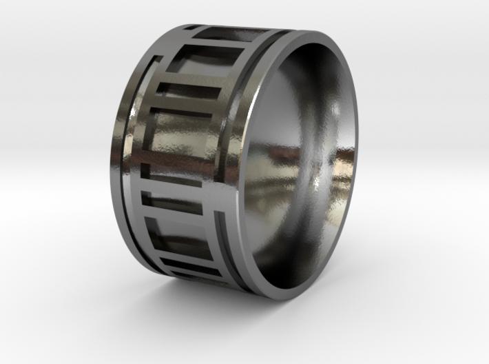 Turbine-E Ring - Size 8.75 3d printed